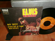 "elvis presley""my boy.""single7""or.fr.rca orange-pb37026 de 1974 rare francais"