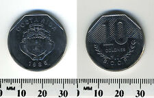 Costa Rica 1985 - 10 Colones Stainless Steel Coin