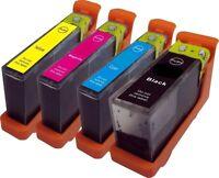 Set de 4 NO 100xl Cartuchos de inyección tinta compatible con Lexmark Pro 705