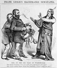 Cartoon 1870s President Grant & Sioux Indian Chief