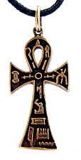 Froce Gothic Bronze Pendant Chain Necklace no. 6 Ankh Anch Egyptian Cross Life
