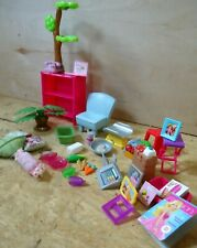 Barbie Furniture Lot Small Pieces House Accessories 34 Pieces Plants Dishes Book