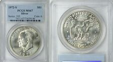 1972 S $1 Silver Ike Eisenhower Dollar PCGS MS67 Beautiful Coin