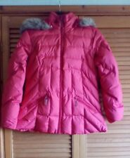 M&S Per Una Ladies Red Feather & Down Quilted Hooded Jacket, size M (12/14)