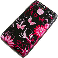 For Motorola DROID RAZR HARD Protector Case Phone Cover Black Pink Butterfly