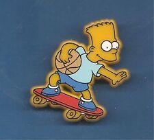 Pin's pin LES SIMPSON BART SKATEBOARD ET BALLON DE BASKET 50 mm x 35 mm (ref C)