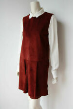SPORTMAX Dress by MAX MARA 12USA 46IT 14GB 42D 44F Suede & Jersey Bordeaux NWOT