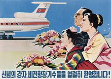 North KOREA Anti-American Propaganda Poster Print A3 + #D004