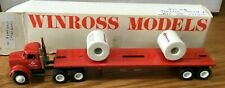 Winross White Ryerson (#2) Tractor/Flatbed Trailer 1/64
