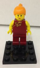 Lego Mary Jane Watson minifigure - vintage Spider-man 1374 maroon outfit
