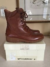 1a CLASSE ALVIERO MARTINI EU 36 US 6 Leather women Ankle BOOTS SHOES In BOX!