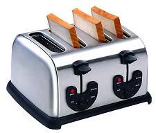 Edelstahl Toaster für 4 Scheiben - Sandwich - Toastbrot rösten