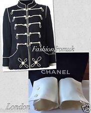 Chanel blanc cassé ecru deux boutons poignets pour veste sz 38-40