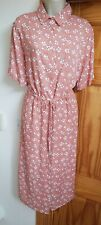 New Ladies Size 16 Inspire Curve Button Through Ditsy Floral Midi Dress Tea Look