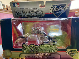 2007 Ertl Orange County Choppers 1:18 Scale San Diego Padres Motorcycle