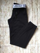 Justice Girls Black Sweatpants Size 12 VGUC