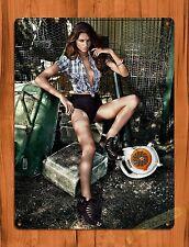 "TIN-UPS TIN SIGN ""Stihl Blower Calender Girl"" Vintage Pin Up Rustic Wall Decor"