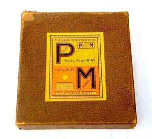 VINTAGE PLUS & MINUS NUMBERS GAME BOXED 1930s COMPLETE