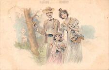 Vintage Fashion Clothing, Family Illustration 1911