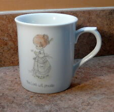 "Vintage Precious Moments Coffee Mug ""The Lord Will Provide"""