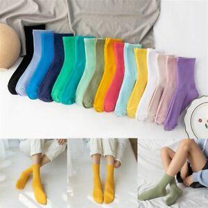 Solid Color Women Comfortable Sport Socks Skateboard Socks Harajuku Cotton