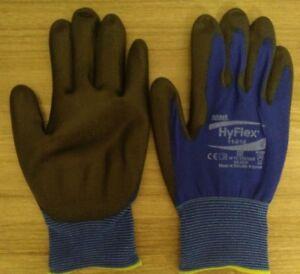 1-12 Ansell HyFlex 11-618 Schutzhandschuhe mit PU-Beschichtung Größe 6,7,8,9