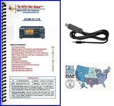 Icom IC-718 Accy. Bundle w/ Nifty! Mini-Manual & RT Systems Prog./Control Cable
