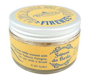 Santa Maria Del Fiore Shaving Soap 250ml RAZOROCK Italy Glass Jar Essential Oil
