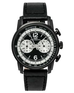 Bomberg Semper 39mm Chronograph Black Dial Leather Watch SP39CHPBA.BA0.3.LBA