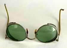 Vintage American Optical Ful-Vue Safety Eye Glasses Goggles Green Lens Steampunk