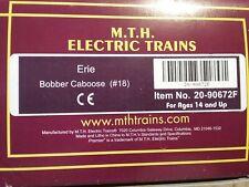 MTH 20-90672 F ERIE BOBBER CABOOSE, #18  NOB, SET CAR ONLY
