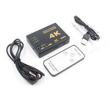 4K Switcher HDMI Splitter 3D Full HD 1080P 3 Port HDMI Switch IR Remote Control