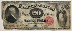1880 $20 Twenty Dollar Hamilton Note ——————> SCARCE AND COOL 141 YEAR OLD BILL