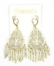 New Gold Tone Filigree Dangle Earrings by Illuminata NWT #E1246
