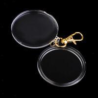 40mm Coin Display Storage Box Key Ring Keychain DIY Photo Frames