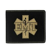 Faux Leather Wallet, EMT Emergency Medical Technician