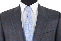 Jack Victor Sport Coat Size 41R In Charcoal With Multi-Color Plaid