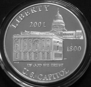 USA 1$ Silver Proof 2001 P US Capitol Visitor Center KM#324