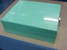 BRAND NEW WOODEN JEWELLERY GIFT BOX IN GLOSS FINISH J02 DB DUCK EGG BLUE 1K