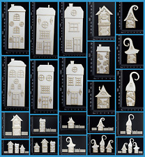 White Chipboard Embellishments - Layered Houses - Collection One