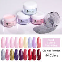 UR SUGAR 44 Colors Dipping Nail Powder Pink Blue Glitter Pigment Nail Dip System