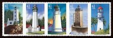 Pacific Lighthouses Us # 4146 - 4150 Mint Nh 2007 Se-tenant Strip of 5