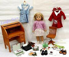 "American Girl 18"" Doll Kit Kittredge Collection Clothing School Typewriter Desk"