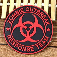 FD3285 Zombie Outbreak Response Team 3D Rubber Red Badge Tactical Morale ♫