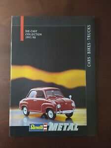 REVELL DIE-CAST COLLECTION 1997/98 CATALOGUE CARS BIKES TRUCKS
