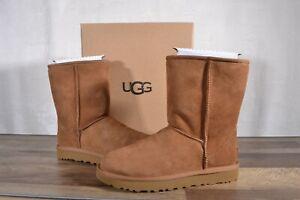 UGG Australia Classic Short II Suede Sheepskin Boots 10 MED Chestnut 1016223 NEW