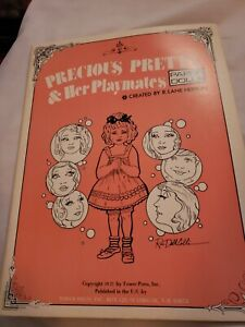 Precious Pretty and Her Playmates Paper Doll Book 1977 Vintage 22 pgs