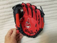 "WILSON T-BALL YOUTH BASEBALL GLOVE 10"" A02RB16CLE MLB CLEVELAND INDIANS NEW"