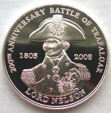 Tristan Da Cunha 2005 Battle of Trafalgar 5 Pounds Slver Coin,Proof