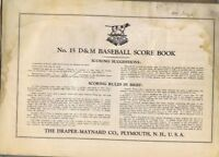 The Draper-Maynard Co Baseball Score Book, No 15, 1933-1935 Scored All Troy, NY